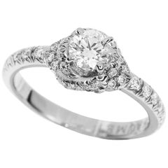 Chaumet 0.32 Carat Diamond Platinum Liens d'Amour Solitaire Ring