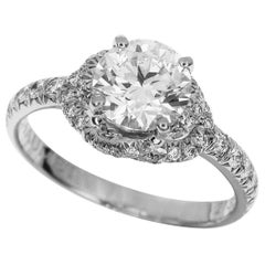 Chaumet 1.04 Carat Diamond Platinum Liens d'Amour Solitaire Ring