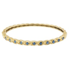 Chaumet 11 Sapphires 18 Carat Yellow Gold Bracelet
