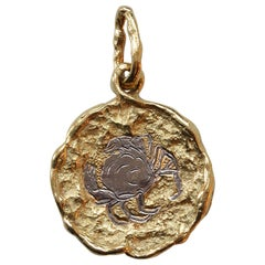 Chaumet 18 Carat White and Yellow Gold Cancer Zodiac Pendant