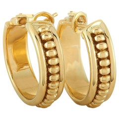 Chaumet 18 Karat Yellow Gold Omega Back Hoop Earrings