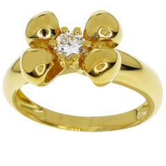 Chaumet 18 Karat Yellow Gold Ribbon Ring
