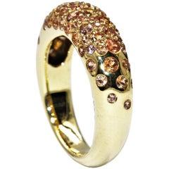 Chaumet 18 Karat Yellow Gold Sapphire 2.00 Carat Ring