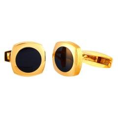 Chaumet 18 Karat Rose Gold and Onyx Cufflinks