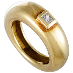 Chaumet 18 Karat Yellow Gold Diamond Band Ring
