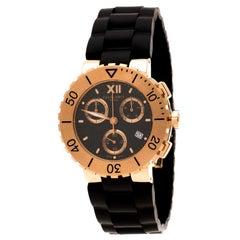 Chaumet 645B Men's Wristwatch 40mm 18K Rose Gold Cuff Links Ball Pen Set