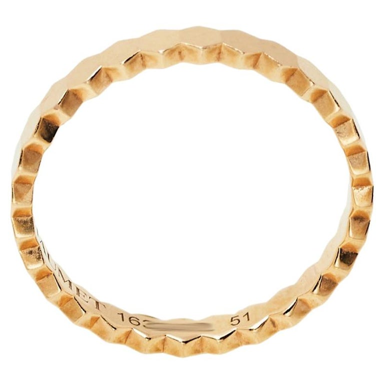 Chaumet Bee My Love Textured 18K Rose Gold Ring Size 51