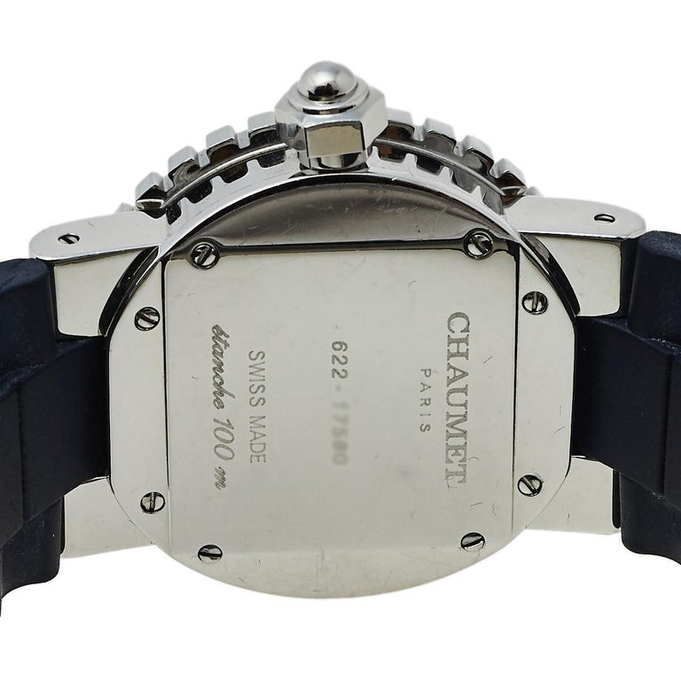 Chaumet Blue Stainless Steel Class One Quartz Women's Wristwatch 33 mm In Fair Condition For Sale In Dubai, Al Qouz 2