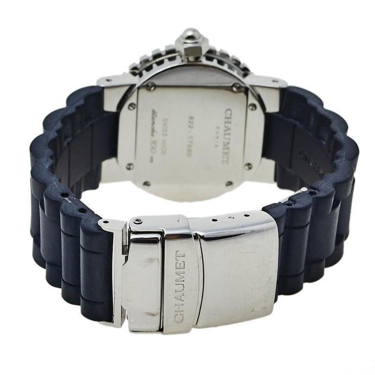 Chaumet Blue Stainless Steel Class One Quartz Women's Wristwatch 33 mm For Sale 1