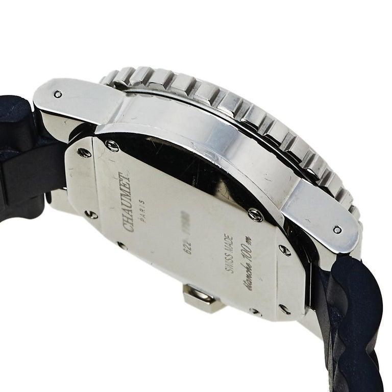 Chaumet Blue Stainless Steel Class One Quartz Women's Wristwatch 33 mm For Sale 2