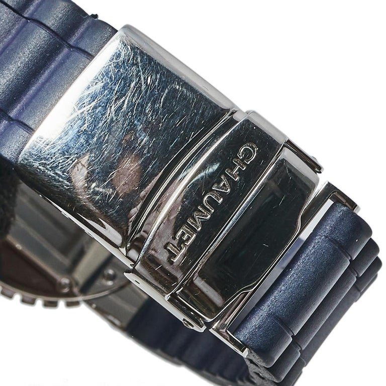 Chaumet Blue Stainless Steel Class One Quartz Women's Wristwatch 33 mm For Sale 4