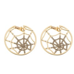 Chaumet Catche Me If You Love Me Diamond Yellow Gold Earrings