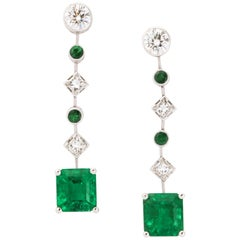 Chaumet Colombian Emerald Diamond Earrings
