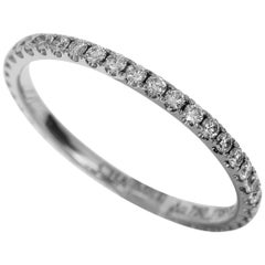 Chaumet Diamond 18 Karat Gold Les Eternelles Pavees Wedding Band Eternity Ring