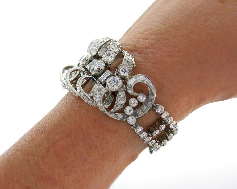 Chaumet Diamond Platinum Bracelet, 1930s, French For Sale 1