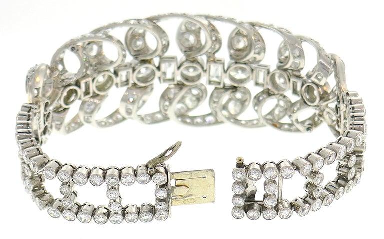 Chaumet Diamond Platinum Bracelet, 1930s, French For Sale 2