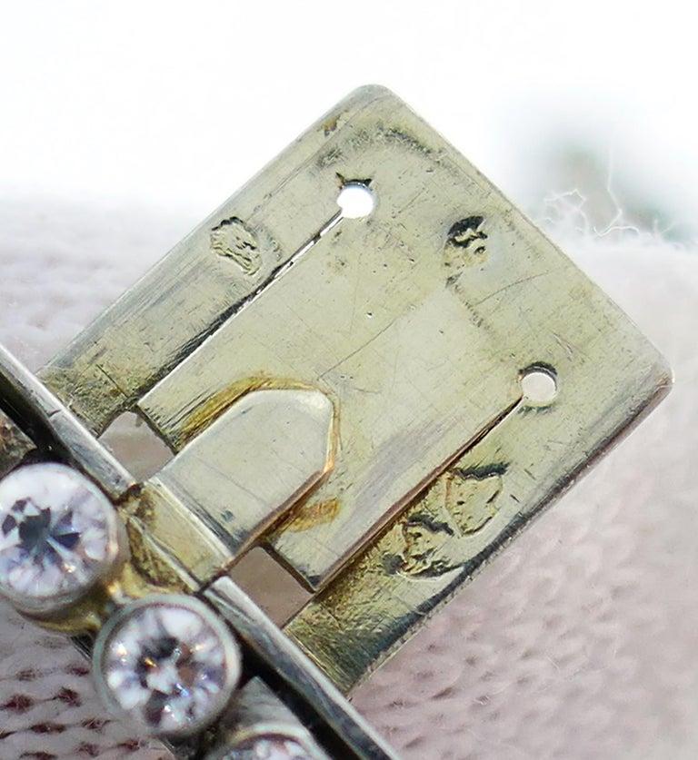 Chaumet Diamond Platinum Bracelet, 1930s, French For Sale 3