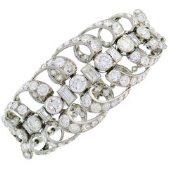 Chaumet Diamond Platinum Bracelet, 1930s, French