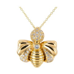 Chaumet Diamond Yellow Gold Bee Pendant