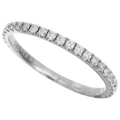 Chaumet Diamonds 18 Karat White Gold Eternity Wedding Band Ring