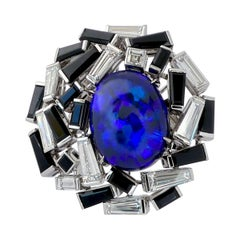 Chaumet Paris Electric Blue Opal Onyx Diamond Ring
