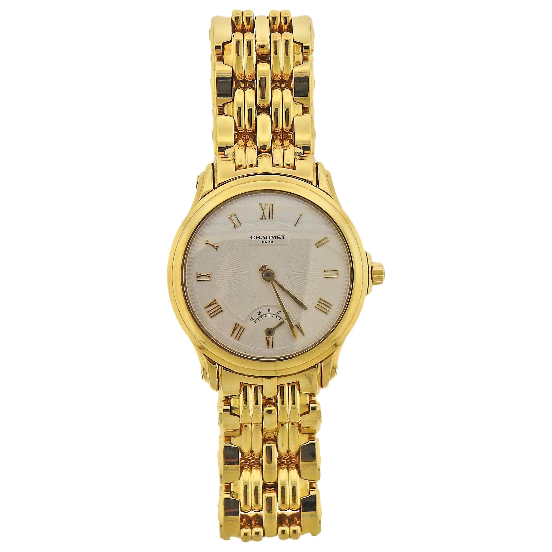 Chaumet Etanche Gold Automatic Power Reserve Watch