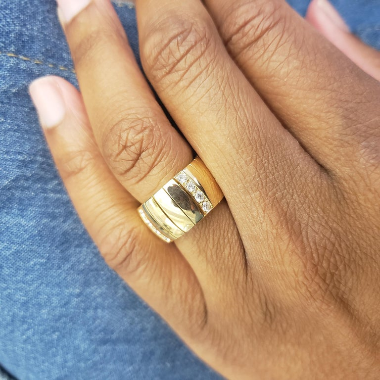 Chaumet Gold and Diamond Flexible Ring In Excellent Condition For Sale In New York, NY