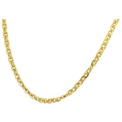 Chaumet Gold Chain Necklace 750 18 Karat Yellow Gold
