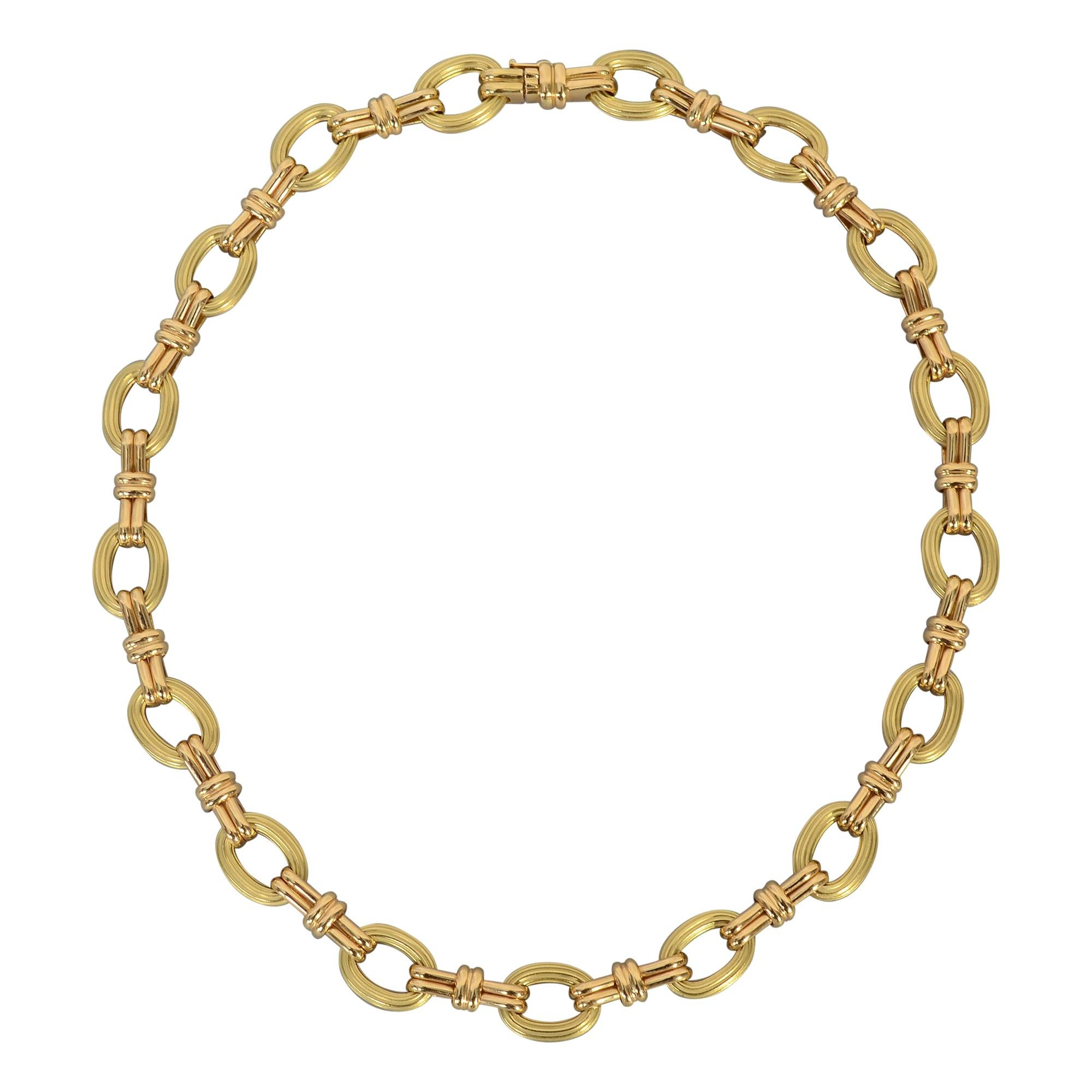 Chaumet Gold Oval Links Necklace