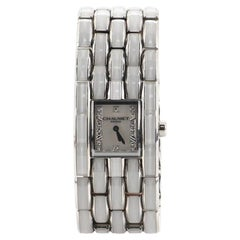 Chaumet Khesis Quartz Watch Stainless Steel and Ceramic with Diamond Markers