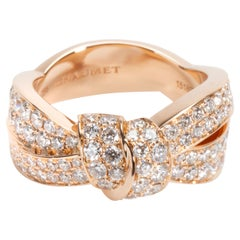 Chaumet Liens Seduction Diamond Ring in 18 Karat Pink Gold 3.50 Carat