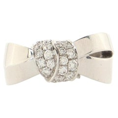 Chaumet Liens Seduction Ring 18K White Gold with Diamonds Large