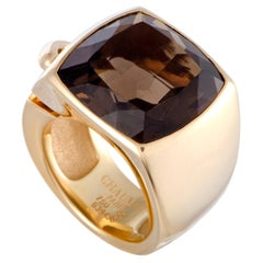 Chaumet Liens Yellow Gold Smoky Quartz Cocktail Ring