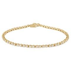 Chaumet Line 1.20 Carats Diamonds 18 Carat Yellow Gold Bracelet