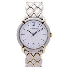 Chaumet Or-Acier 205476 Womens Quartz Watch White Dial Two-Tone Gold