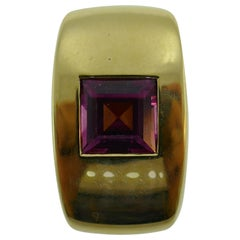 Chaumet Paris 18 Karat Yellow Gold and Pink Tourmaline Slide Pendant Charm