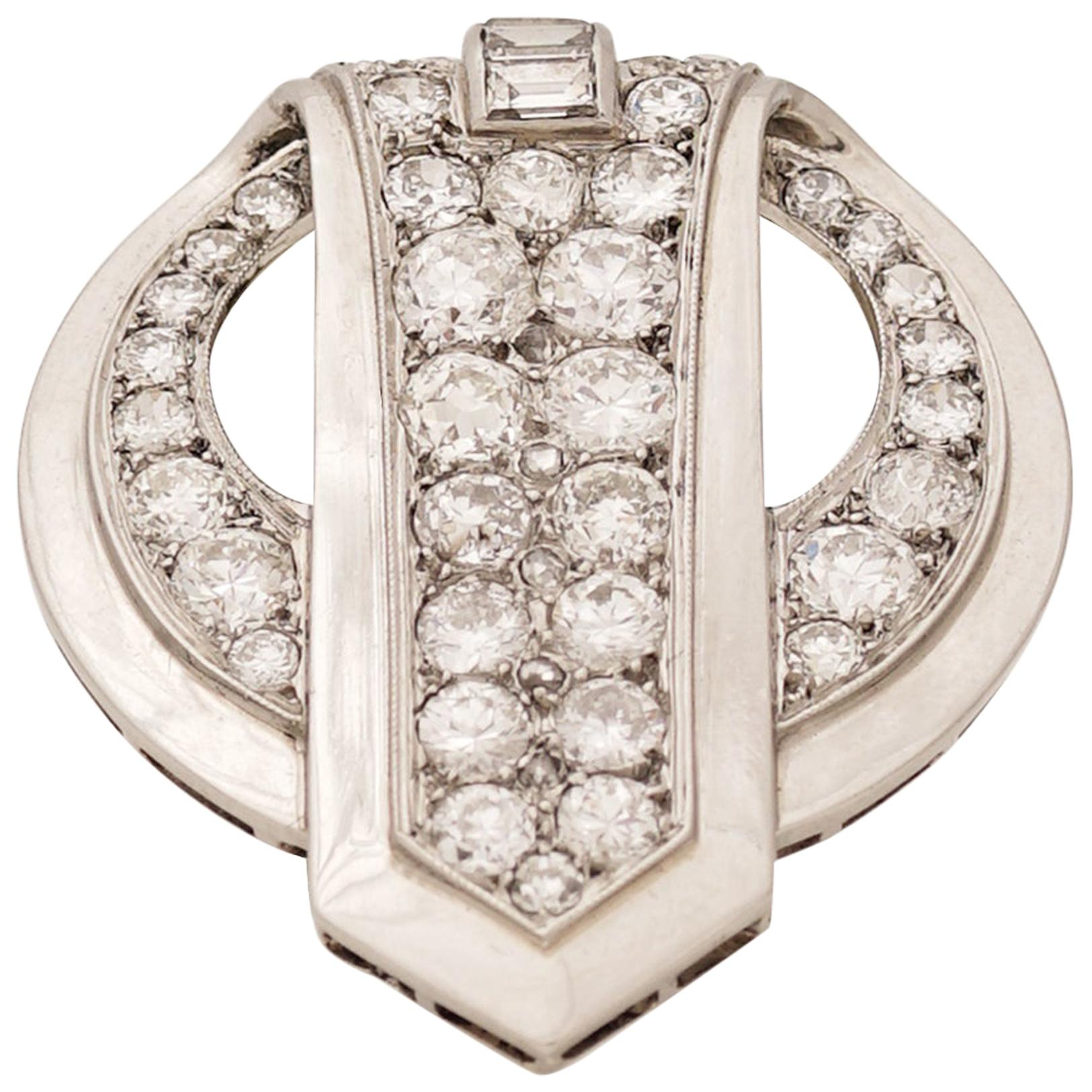 Chaumet, Paris, a Diamond and Platinum Clip, circa 1930