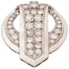 Chaumet, Paris, a Diamond and Platinum Clip, circa 1930