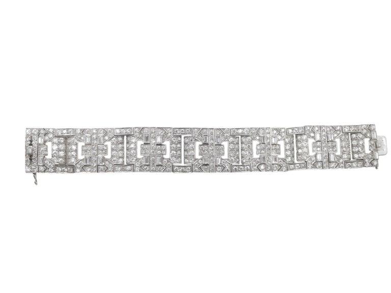 Women's Chaumet Paris Art Deco Diamond Platinum Bracelet For Sale