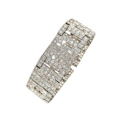 Chaumet Paris Art Deco Diamond Platinum Bracelet