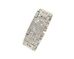 Chaumet Paris Art Deco Diamond Platinum Bracelet