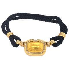 Chaumet Paris Diamond 18 Karat Yellow Gold Interchangeable Rope Necklace