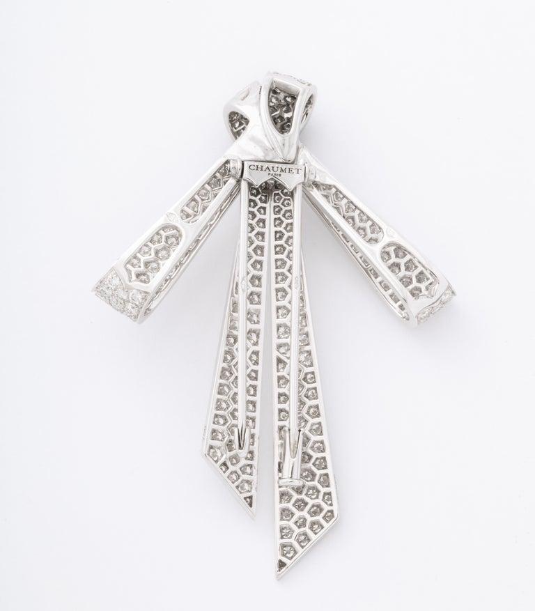Chaumet Paris Diamond Bow Brooch For Sale 6