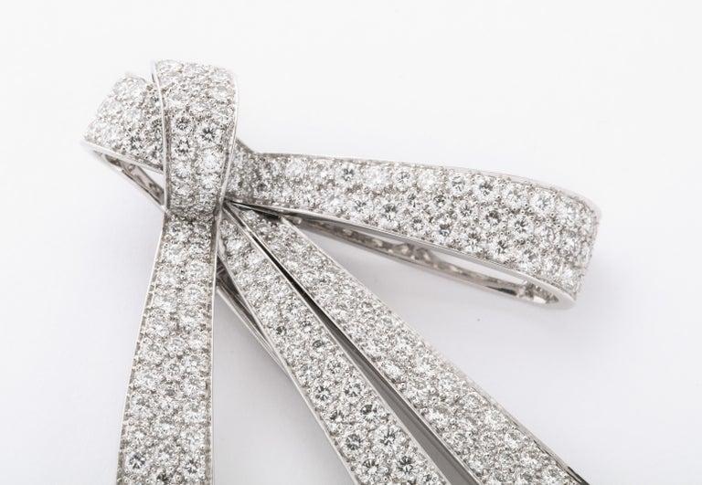 Chaumet Paris Diamond Bow Brooch For Sale 1