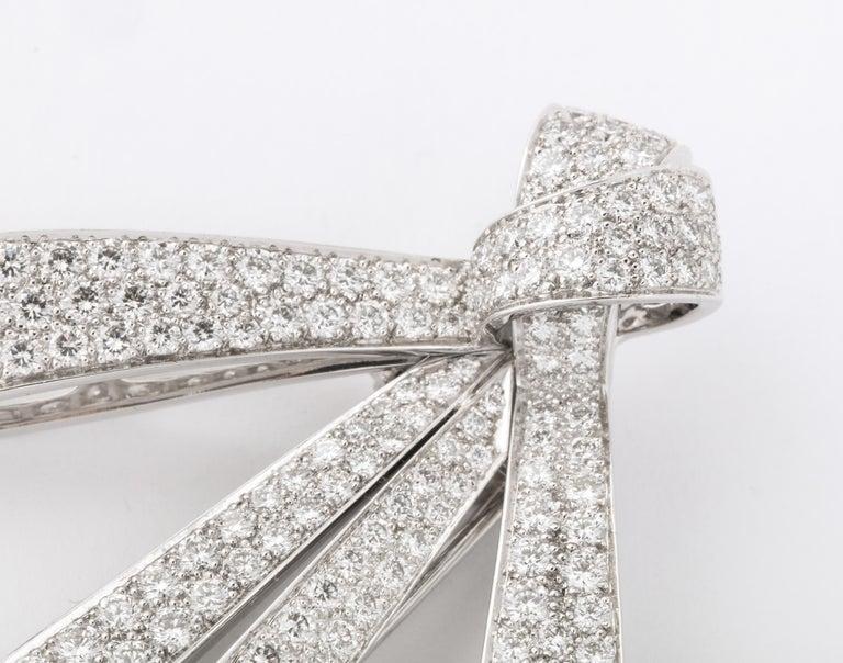 Chaumet Paris Diamond Bow Brooch For Sale 2