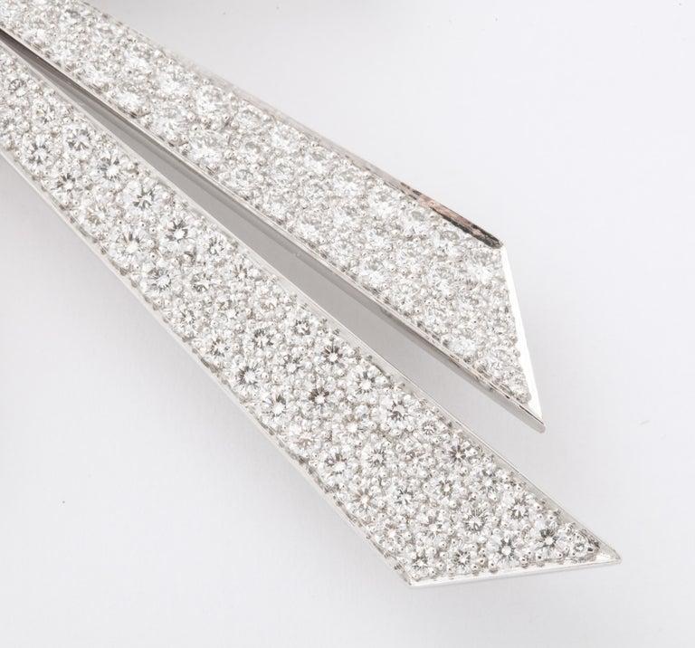 Chaumet Paris Diamond Bow Brooch For Sale 4