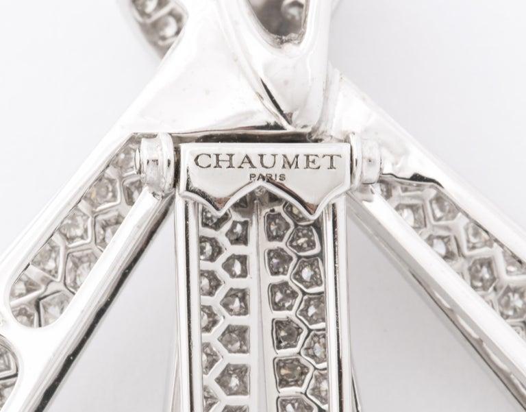 Chaumet Paris Diamond Bow Brooch For Sale 5