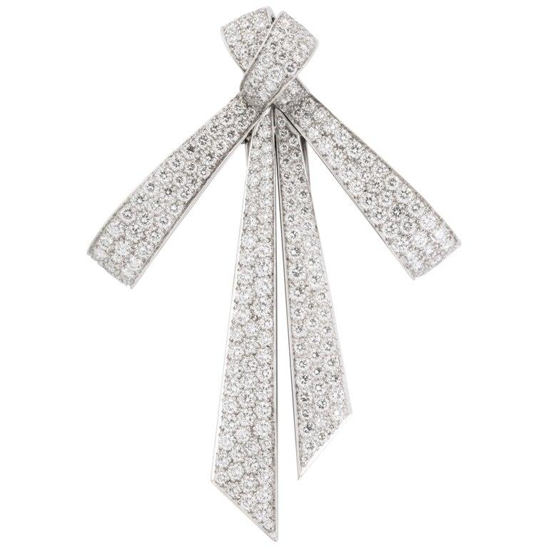 Chaumet Paris Diamond Bow Brooch For Sale