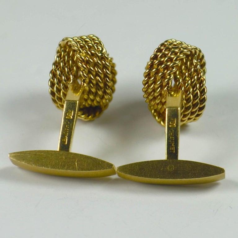 Chaumet Paris Gold Knot Cufflinks For Sale 2