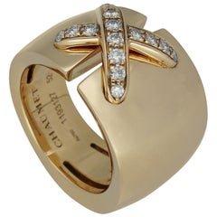 Chaumet Paris 'Liens Croisés' Diamonds Gold Ring